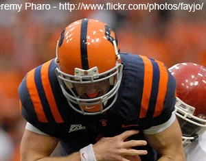 Remember when Syracuse wore these all-orange monstrosities during the Greg Robinson era?