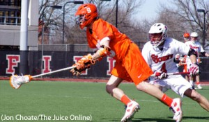 Syracuse plays against St. John's in lacrosse