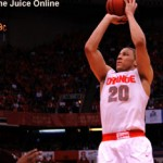 Syracuse guard Brandon Triche shoots against Louisville