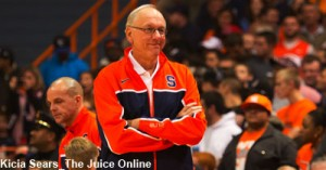 Boeheim smiles as team has fun in the scrimmage