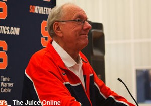 Jim Boeheim smiles about the start of a new season