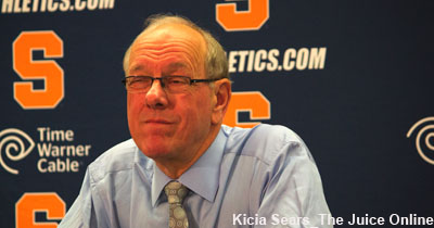 Jim Boeheim isn't impressed.