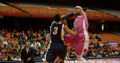 Sykes displayed typical athleticism against Pitt