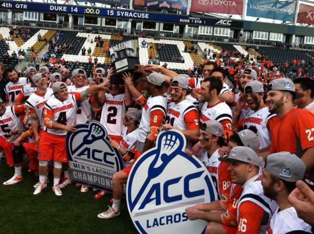 Syracuse captured its first ACC lacrosse title by holding off Duke 15-14 Sunday afternoon