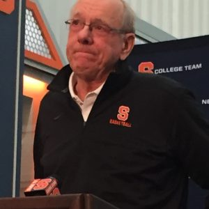 An emotional Jim Boeheim reacts to the death of Pearl Washington at age 52