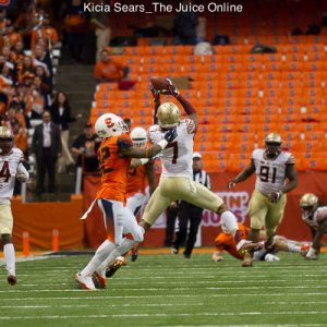 Florida State makes an easy interception on a floaty Mahoney pass.