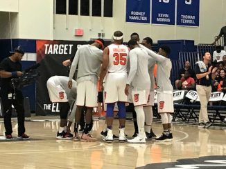 Boeheim's Army Huddle
