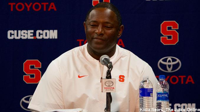 Syracuse head coach Dino Babers