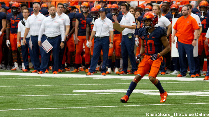 Syracuse wide receiver Sean Riley