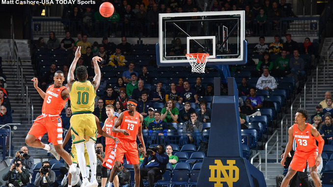 NCAA Basketball: Syracuse at Notre Dame
