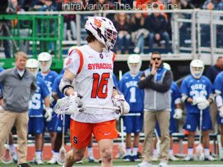 Syracuse lacrosse midfielder Brendan Curry