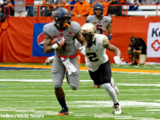 Syracuse running back Dontae Strickland