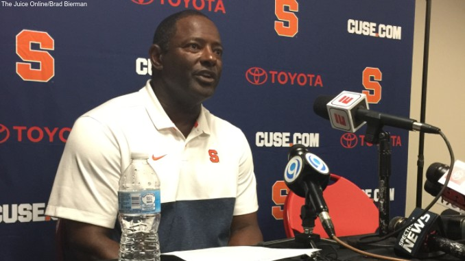 Syracuse head coach Dino Babers
