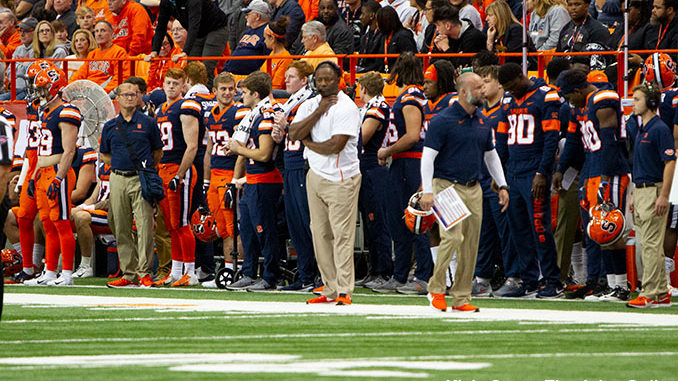 Syracuse coach Dino Babers