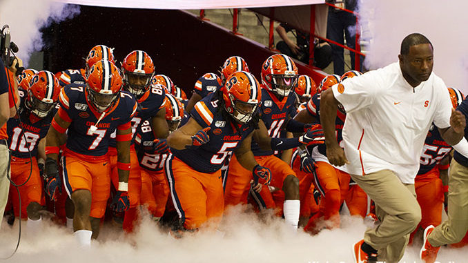 Syracuse football tunnel