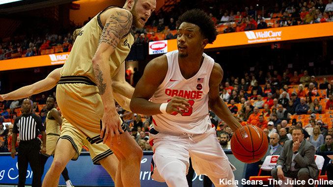 Syracuse Orange forward Elijah Hughes