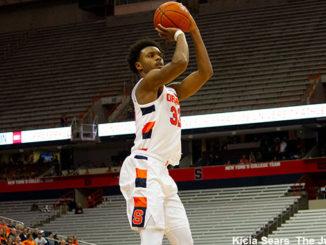 Syracuse forward Elijah Hughes