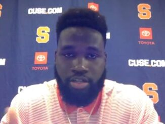 Syracuse defensive end Kingsley Jonathan